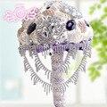 Новое Прибытие Великолепная хрустальный цветок свадебные букеты невесты букет невесты мяч-аксессуары день святого валентина