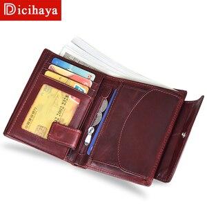 Image 3 - جديد وصول الاتجاه محفظة جلدية حقيقية الإناث المرأة المحفظة محفظة صغيرة جودة محفظة نسائية للعملات المعدنية النساء زر حقيبة مزودة بسحّاب محفظة