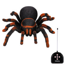 Radio Control RC Simulation Furry Tarantula Electronic Spider Toy Kids Gift Halloween Surprise(China)