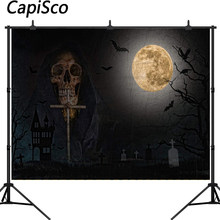 Capisco photography background dark blurry cemetery grim Reaper Halloween theme backdrop professional photo background studio(China)