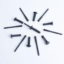 Xiaobaishu 50 Uds sujetador para el auto núcleo de nailon a remache rueda ceja posicionador para Ford Chrysler Benz clip de sujeción para vehículo