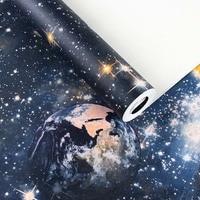 Children Room Wall Sticker 3D Murals Star Planet Universe Space Wallpaper Star Sky Ceiling Wallpaper Children's Room