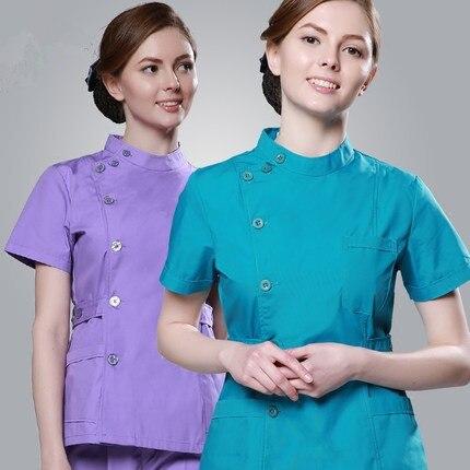 2018 mujeres del verano del hospital ropa médica matorrales conjunto - Novedad - foto 3