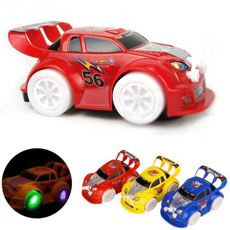 electronic toys automatic steering flashing music racing car electric universal baby kids toy brinquedos car christmas