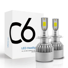C6 Pro Enhanced 2Pc Car Lights Bulbs LED H4 H7 9003 HB2 H11 LED H1 H3 H8 H9 880 9005 9006 H13 9004 9007 Auto Headlights Led Lamp(China)