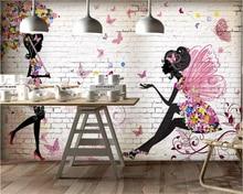 beibehang Classic fashion three-dimensional wall paper Nordic minimalist cute animal balloon deer childrens house 3d wallpaper