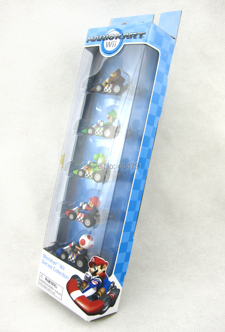 Mario kart 8 for sale - 5pcs Hot Sale Super Mario Luigi Yoshi Toad Donkey Kong Mario Kart Wii Diecast Collection Metal