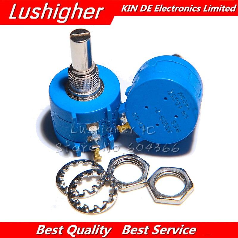 1pcs 3590S Series 1K 2K 5K 10K 20K 50K 100K Ohm Precision Potentiometer Adjustable Resistor 3590 102 103 502 103 203 503 104 New