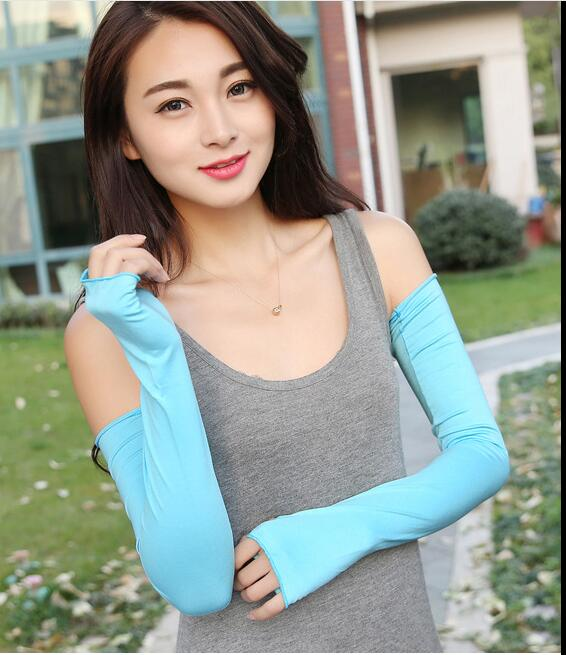 50 Pairs New Section Drove UV Sunscreen Half Finger Cuff Sunscreen Arm Sleeves Hand Protection Women Men Fingerless Long Gloves