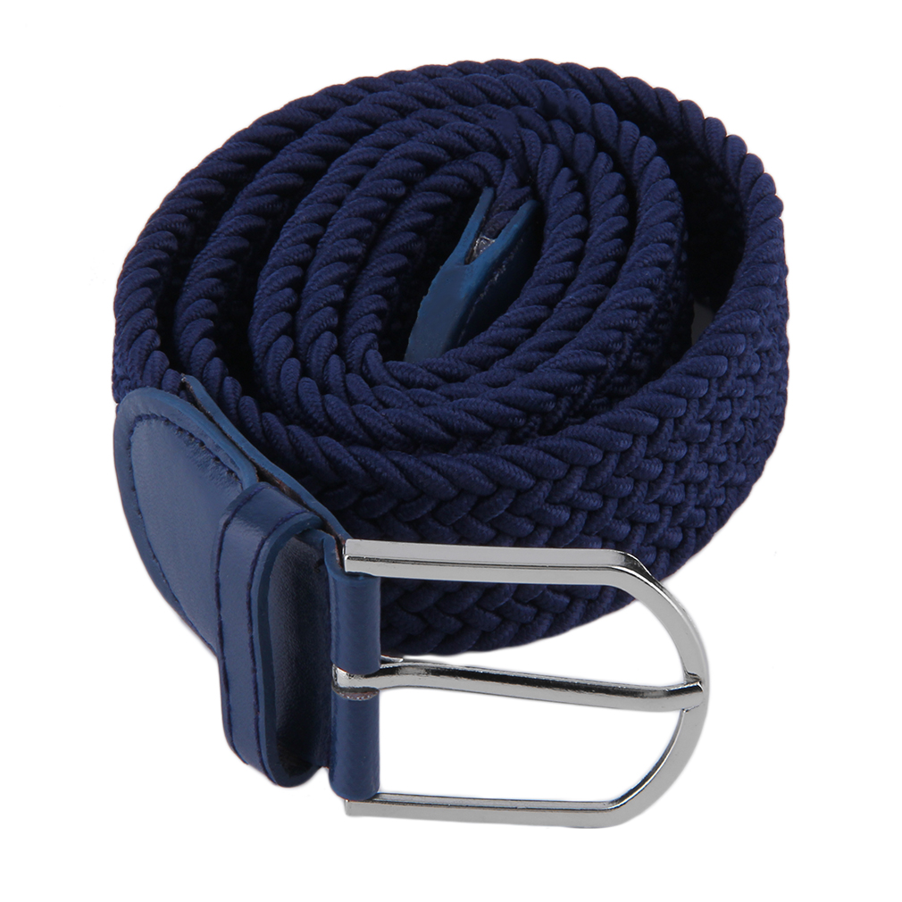 OUTAD Men's Casual Woven Braided Stretch Elastic Belt Waistband Waist Strap Stylish Practical  Men Belt Casualstyle Male Strap