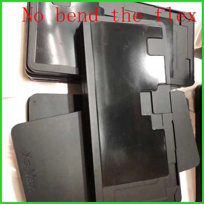 Màn Hình LCD Khuôn Khuôn Mẫu Ốp Cán Đen Miếng Lót Cao Su Cho iPhone 6/6 S/7 Plus/8 Plus X XS Max Màn Hình Cảm Ứng Sửa Chữa (Không Uốn Cong Flex)