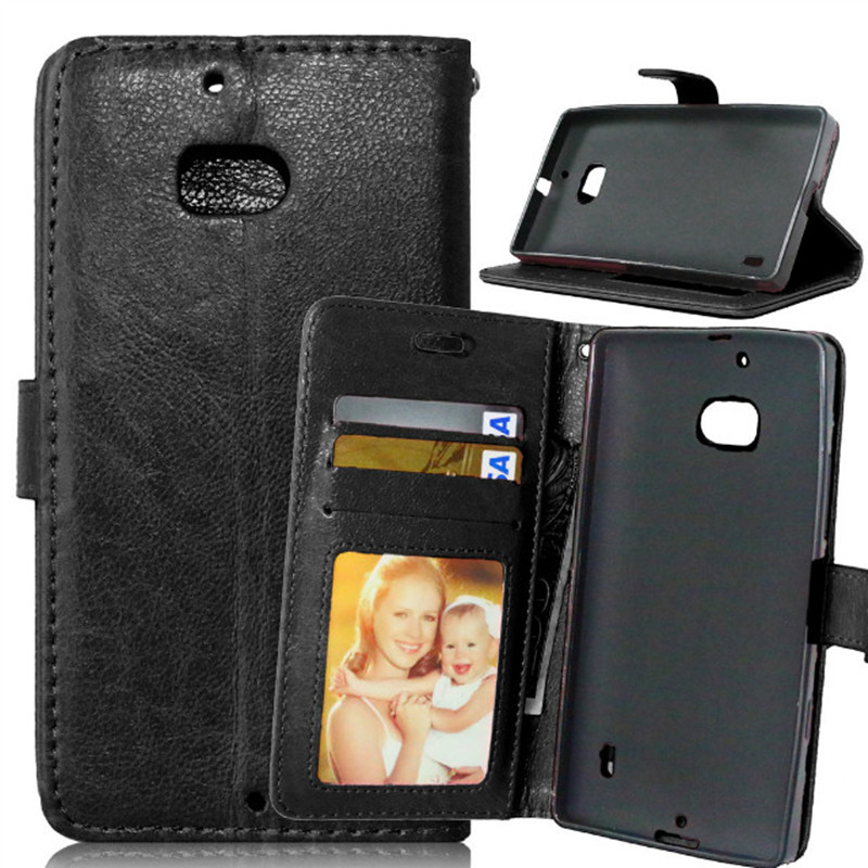 For Nokia N930 Luxury Black Color 3 Credit Cards Leather Wallet Flip Fundas Case For Microsoft Nokia <font><b>Lumia</b></font> <font><b>930</b></font> <font><b>Back</b></font> <font><b>Cover</b></font> Capa image