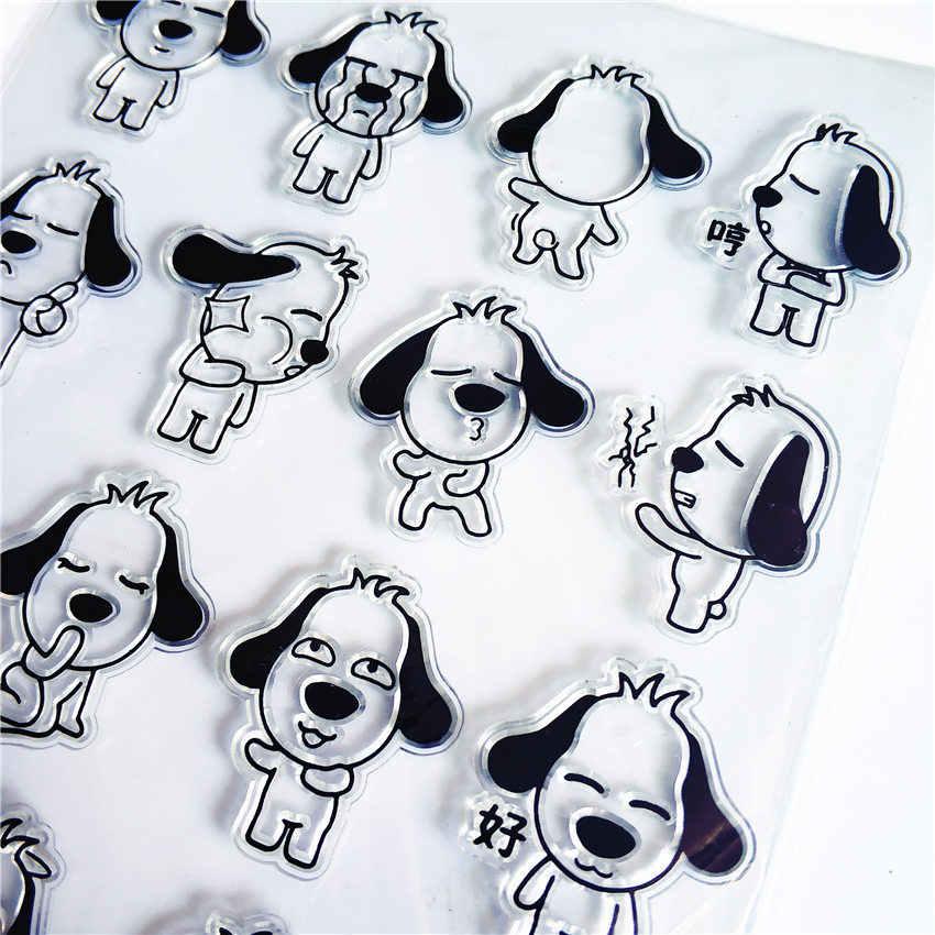 PANFELOU собака лицо прозрачный силиконовый штамп/печать для DIY Скрапбукинг/фотоальбом Декоративные прозрачные штамп листы