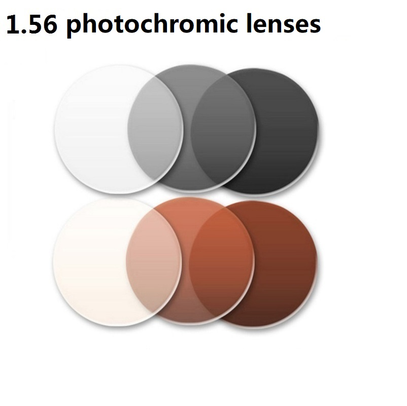 1.56 Aspheric photochromic eyglasses lenses brown gray brand prescription optical myopia photochromic sunglasses resin lenses