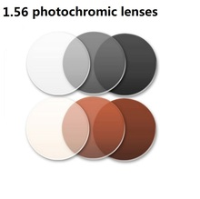 1.56 Aspheric photochromic eyglasses lenses brown gray brand prescription optical myopia photochromic sunglasses resin lenses myopia tinted film eyeglass sunglasses lenses color dyed sheet gradient resin lenses large diameter custom prescription lenses