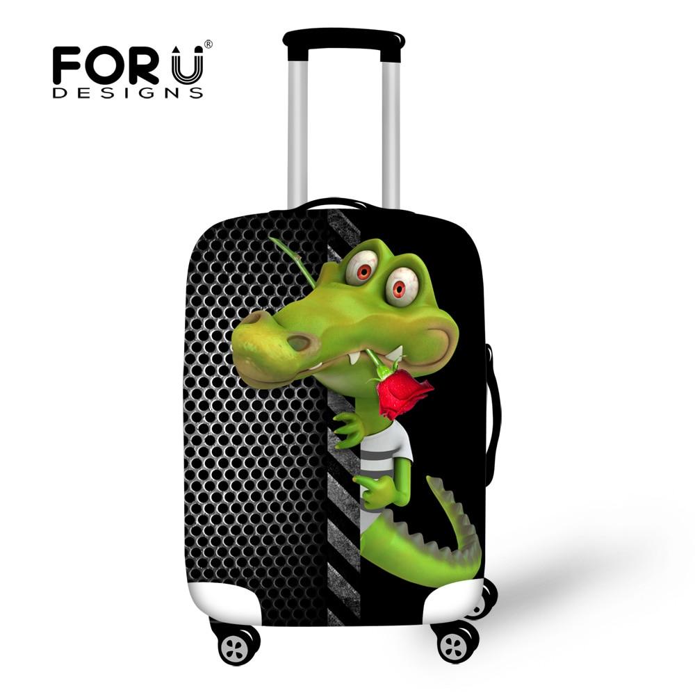 FORUDESIGNS Жануарлардың багажды қорғаныс жабыны Аллигатор 18-30 дюймдық троллейбустық сөмкелерге арналған багаждың қақпағы