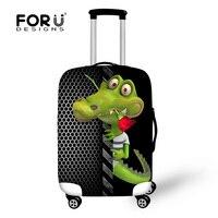 Stylish Zoo Animal Luggage Protective Case Alligator Luggage Cover For Travel 18 30inch Trolley Suitcase Elastic