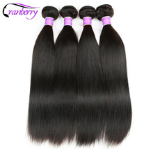 CRANBERRY Hair Store Brazilian Straight Hair Weave Bundles 100% Human Hair Bundles Extensions Non Remy Hair Weaving 100g/pc(China)