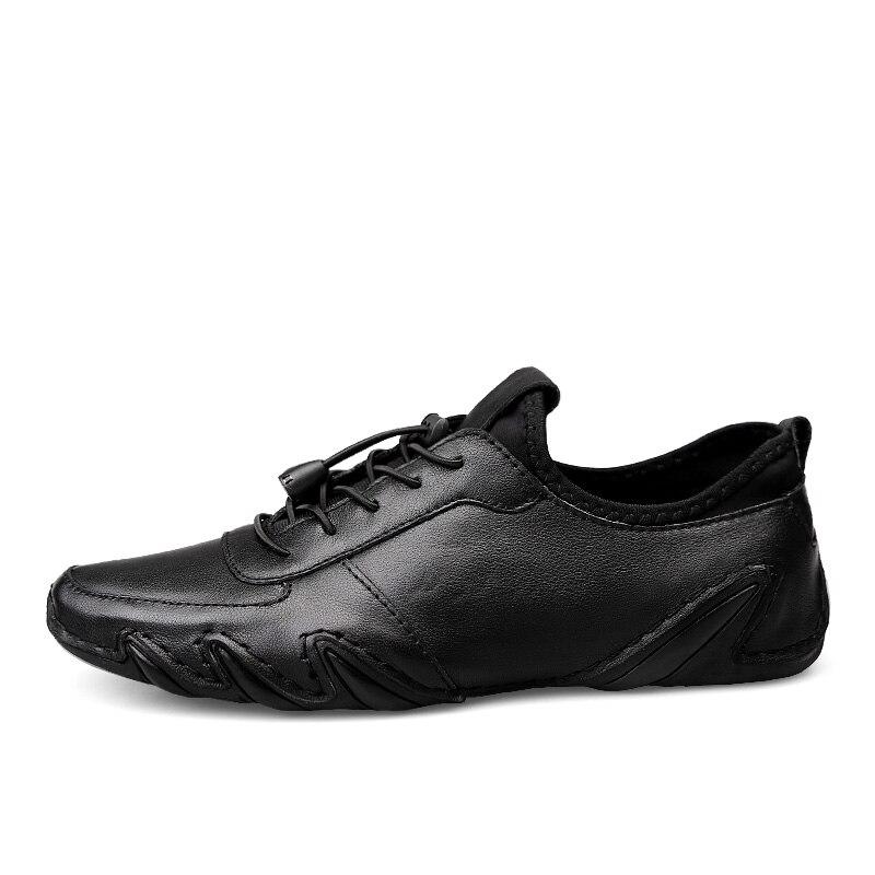 Sapatos Sapato Homens Grife Calçado Mocassins Masculino 2019 Dos Genuínos Macio Homme De Chaussure Verão Couro Black Primavera Clax Andando gwCdqYq