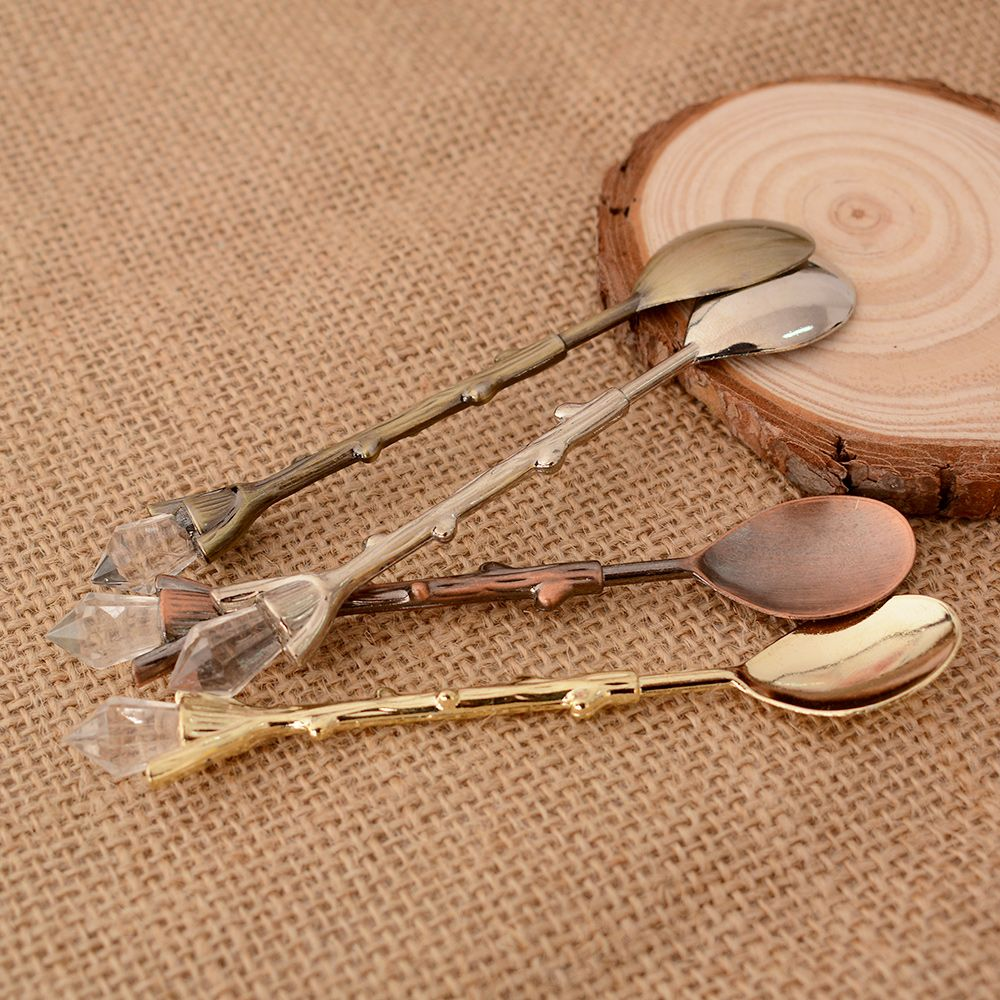 1PC Coffee Spoon Tree Branch Design Dessert Ice Cream Milk Spoon Tableware Christmas Wedding Gift Home School Use