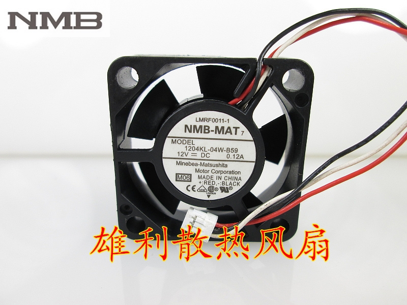 Original For NMB 1204KL 04W B59 3010 30mm 3cm DC 12V 0 12A Cooling Fan