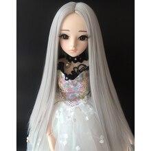 Cateleya BJD парик 1/3 1/4 1/6 1/8 куклы волосы длинные прямые волосы в середине боковых кромок