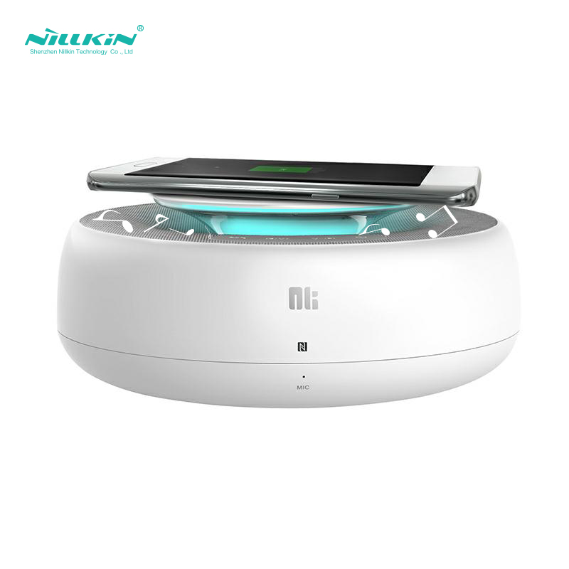 NILLKIN 2 in 1 NFC Wireless Bluetooth Speaker AUX Input CSR 4.0+Wireless Charger for SamsungS9/S8 Quik Charger Wireless charger eu plug kfd charger for beats by dre beats pill xl b0514 speaker wireless bluetooth loudspeakers charger free shipping