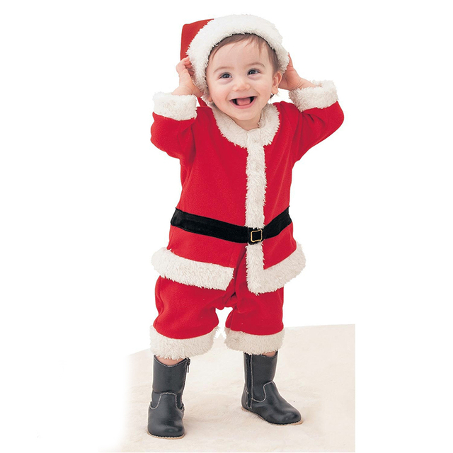 20ebd6c0a9f5 New Year Christmas Costumes for Kids Baby Girls Boys Cosplay Santa Claus Clothes  Toddler Children Holiday Festive Clothing