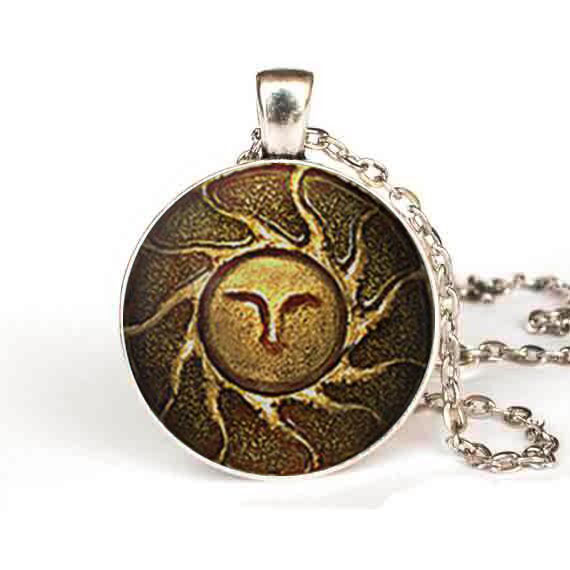 Heirs of the sun dark souls ii necklace apllo sun god jewelry heirs of the sun dark souls ii necklace apllo sun god jewelry pendant gift women men aloadofball Choice Image