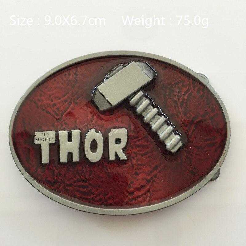 bc7b4264cbd1 Avengers Super-Héros Rouge Thor marteau ceinture boucle 9.0 6.7 cm 75.0g  Ovale En Métal Pour 4 cm Large Ceinture classique Hommes Femmes Jeans  accessoires