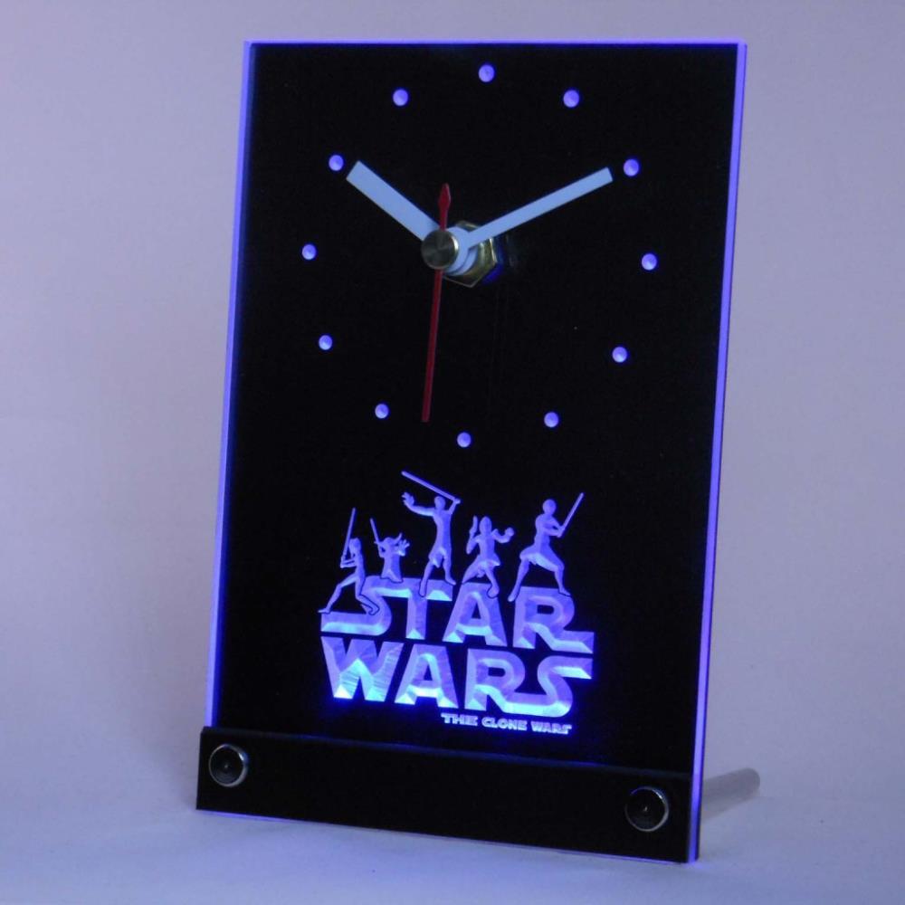 Tnc0218 Star Wars The Clone Wars Jedi Tisch Schreibtisch 3D LED Uhr