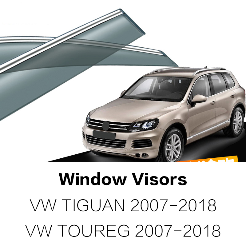 Car Styling Awnings Shelters Window Visors rain eyebrow For VOLKWAGEN TIGUAN 2007-2016 2 ...