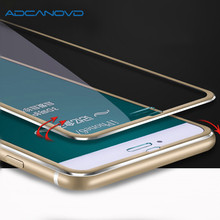 2PCS 3D full cover protective glass for iphone x 5 5s se Aluminum alloy screen protector tempered glass on iphone 6 6s 7 8 plus r just protective aluminum alloy frame case screen guard set for iphone 6 plus gold grey