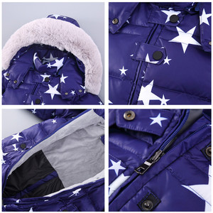 Image 2 - 2019 חדש חורף סרבלי הלבשה עליונה 4 צבע ילדים חורף מעיל עבור בנות חליפת שלג, למטה בני מעיל 1 4 שנים סרבל חם תינוק
