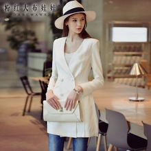 spring 2016 women's new fashion long sleeve slim casual solid autumn blazer women wholesale