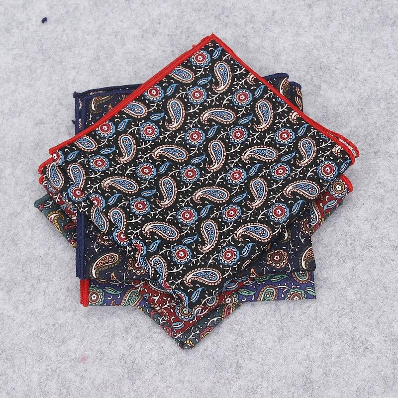 2018 Brand New Man Vintage Handkerchief 100% Cotton Hankies Men's Pocket Square Handkerchiefs Paisley Printed Towel Gravatas