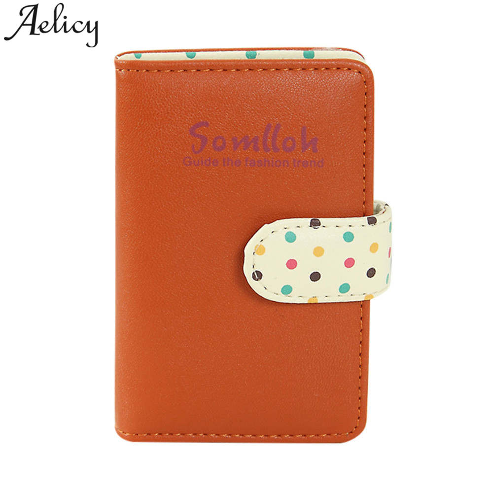 Aelicy Wallet Card-Holder Porte Credit-Card-Case Carte Women Bank High-Quality