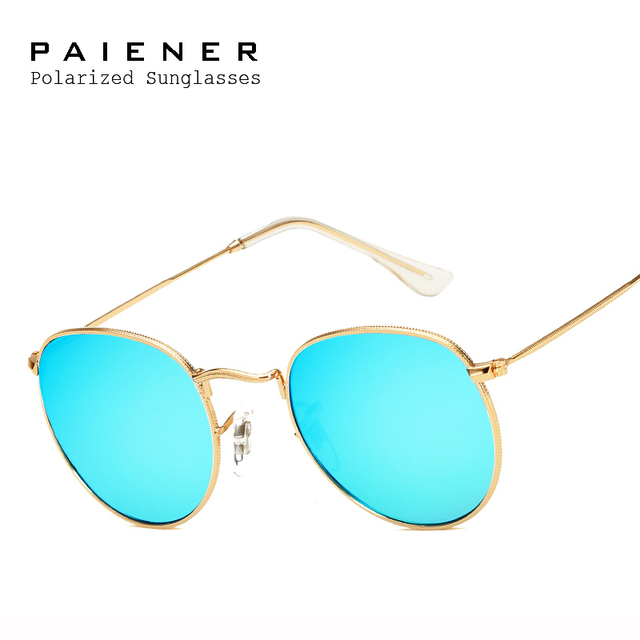 a2a503e88f48 Brand Classic Polarized Sunglasses Men Women brand designer Vintage Eyewear  Round Driving Unisex Sun Glasses with Accessories