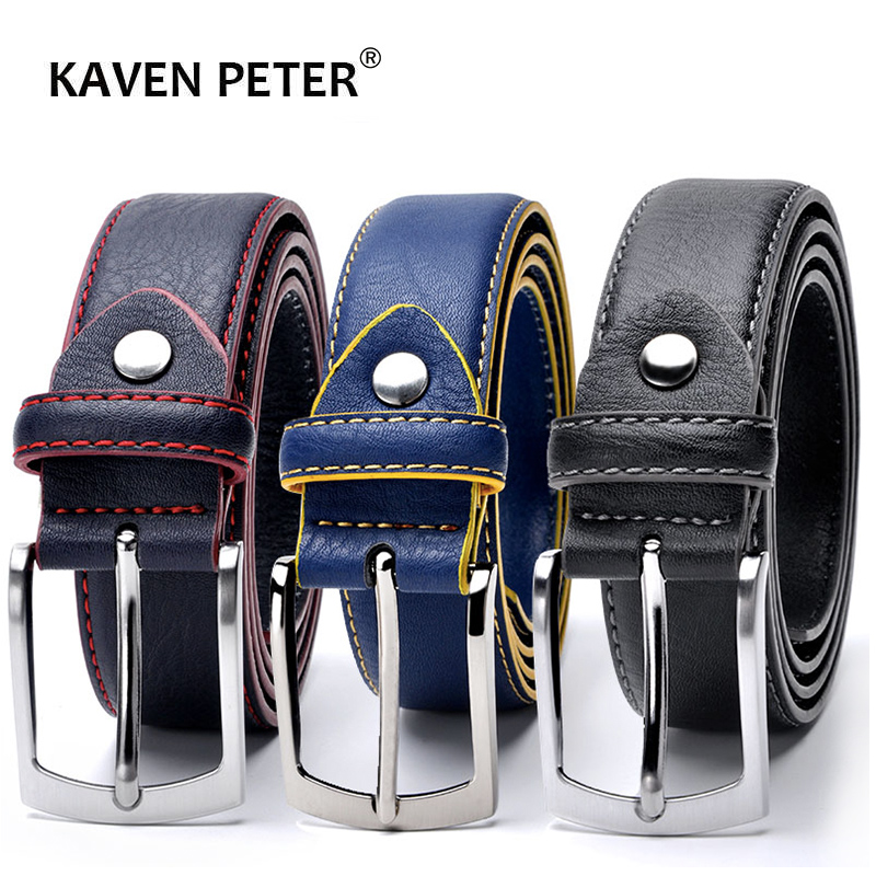 Hot Sale Leather Belt Men Italian Design Casual Men's Leather Belts For Jeans Mens Belts Luxury Designer Belts Men High Quality