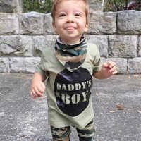 Bébé DADDYS garçon fille 2019 décontracté été nouveau-né bébé filles vêtements ensemble hauts t-shirt + pantalon mignon tenue ensemble Camouflage