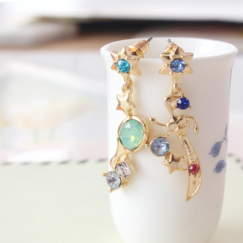 Anime Sailor Moon 25th anniversary Sailor Uranus & Neptune Talisman Earrings Dangle Earrings
