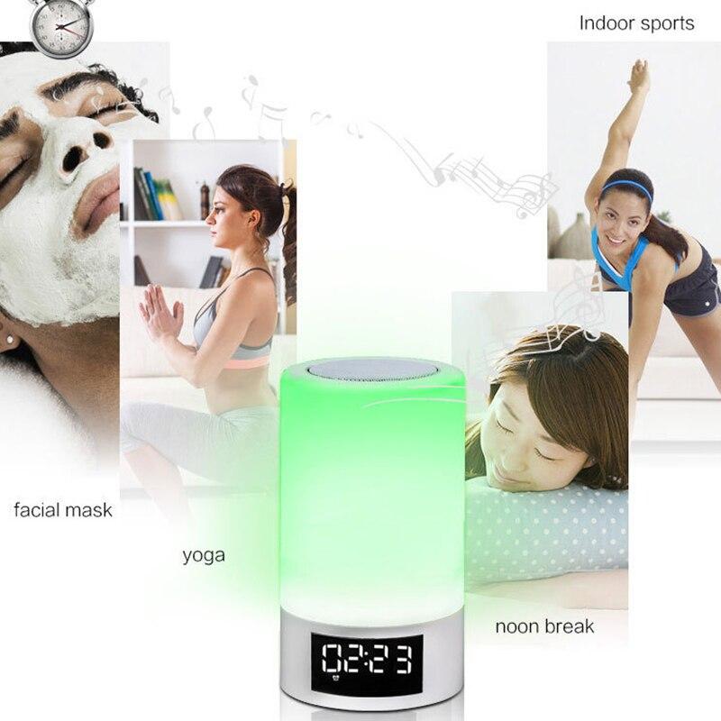 LED coloré veilleuse tactile Bluetooth Audio maison intelligente atmosphère émotionnelle lampe de haut parleur - 4