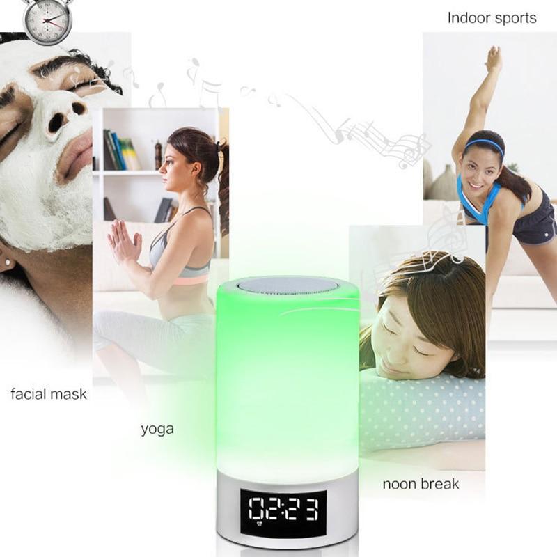 Led Kleurrijke Nachtlampje Touch Bluetooth Audio Smart Home Emotionele Sfeer Speaker Lamp - 4