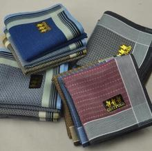 ФОТО freeshipping 6pcs men's pocket squares handkerchief  43*43cm 100% cotton  handkerchief men
