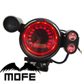 MOFE Racing Original Logo 80MM MPH Lamp Stepping Motor Odometer Speedo Speedometer Gauge Meter Red  LED