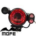 Mofe corrida logo original 80mm mph lamp stepping motor velocímetro medidor odómetro speedo medidor led vermelho