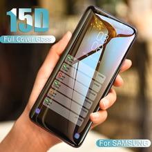15D Kavisli Koruyucu Cam Üzerinde Samsung Galaxy S9 S8 Artı S7 S6 Kenar Temperli Cam Ekran Koruyucu samsung Not 8 9