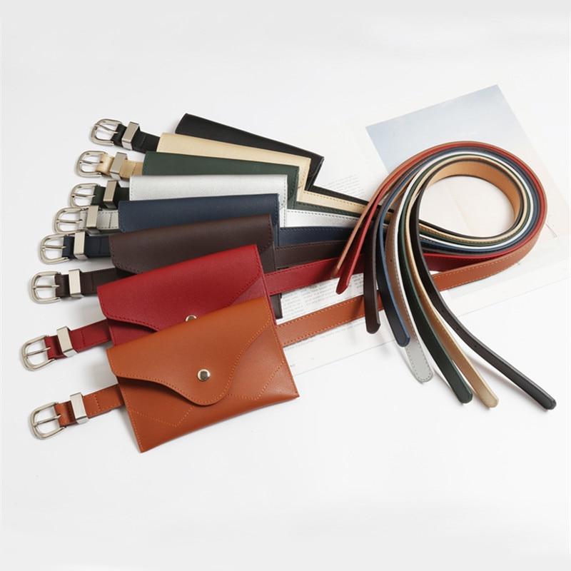 Fanny Pack For Women Belt Bag Envelope Leather Waist Pack Bag Fashion Female Pure Color Money Belt Chest Functional Phone Bag