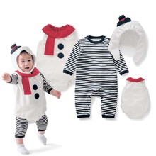 hot deal buy jxysy newborn baby clothes girls boys christmas clothes baby rompers long sleeve cotton baby christmas clothes 3pcs toddler suit