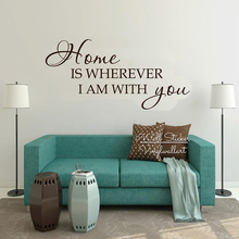 Home Is Wherever I Am With You Quotes Wall Decal Lettering Quote Stickers Family Removable Decor Cut Vinyl Q243